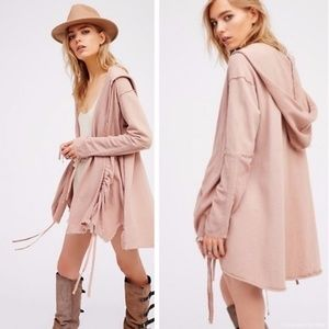 Free People Get Your Gauze Hooded Cardigan XS